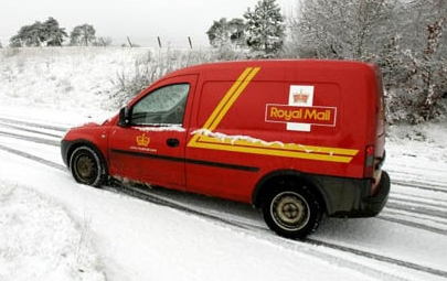 van snow Royal Mail Takes on the Temps to Take on the Temp